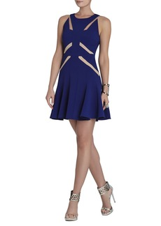Solie Tulle-Insert Cutout Dress