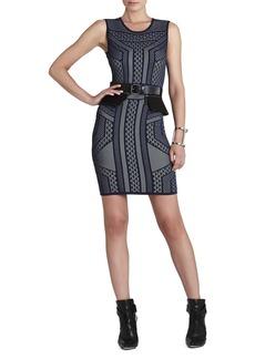 Stefanie Geometric Relief Jacquard Dress