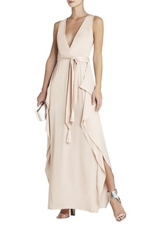 Suzanne Sleeveless Tie-Waist Gown