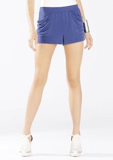 Talen Draped-Pocket Shorts