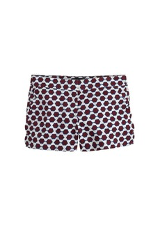 Scallop-pocket short in sunglass print