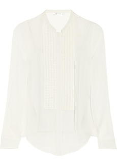 Diane von Furstenberg Esmely pleated silk-chiffon shirt