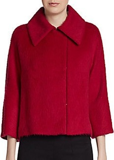 MaxMara Canasta Alpaca & Silk Cropped Swing Coat