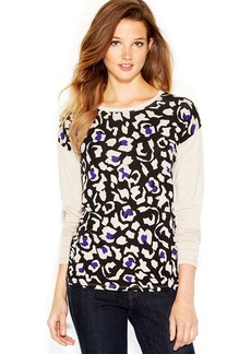 kensie Animal-Print Sweatshirt