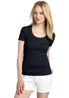 Three Dots Women's Short Sleeve Scoop Neck Tee