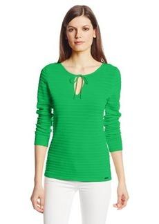 Calvin Klein Women's Ottoman Stich Pullover Sweater