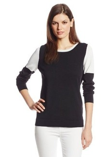 Calvin Klein Women's Color-Block Drop-Shoulder Sweater