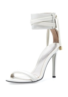 Jason Wu d'Orsay Ankle-Wrap Sandal, Dove Gray