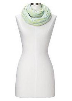 Thin-stripe T-shirt infinity scarf