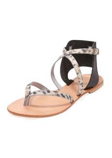 Joie Casis Leopard-Print Leather Sandal