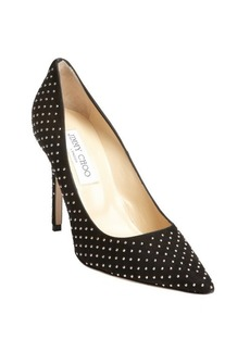 Jimmy Choo black suede metal studded 'Abel' pumps