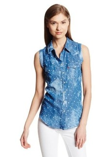 Levi's Women's Chambray Wave Muscle Shirt