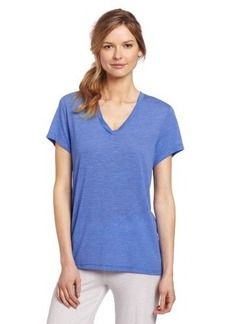 Hue Sleepwear Women's Short Sleeve Slub Texture V-Neck Sleep Tee