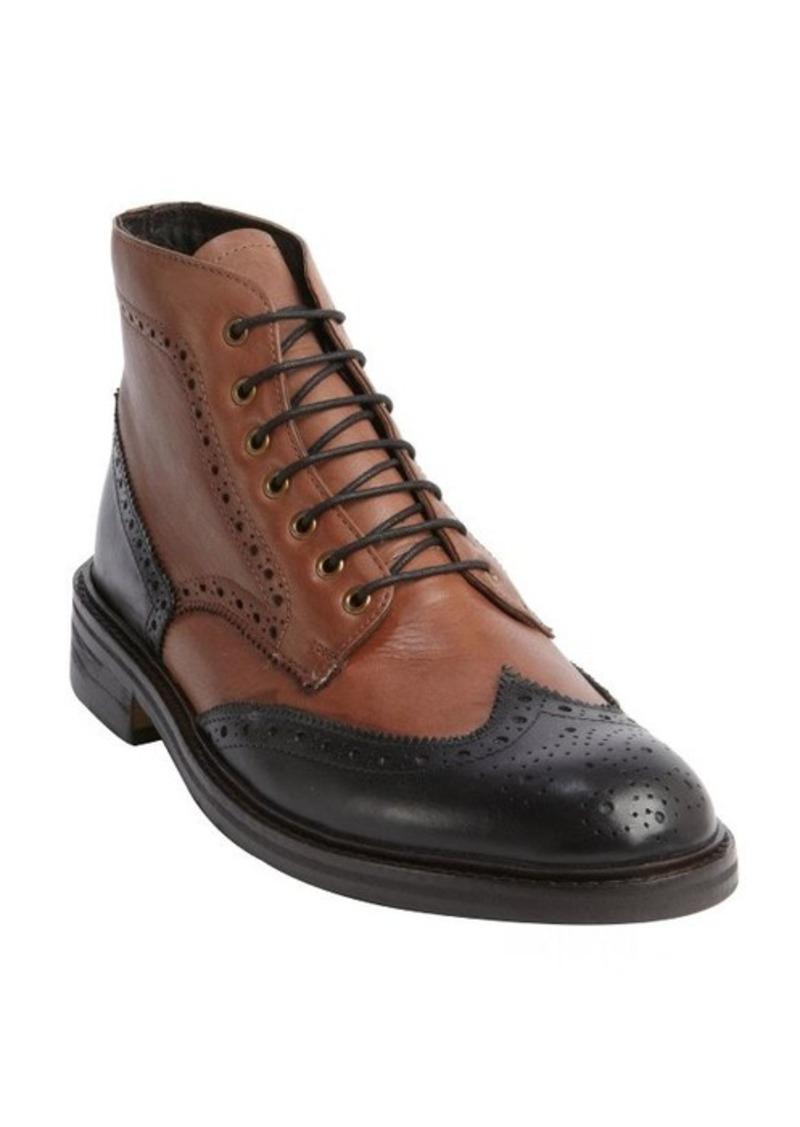 ben sherman ben sherman brown and black tooled leather