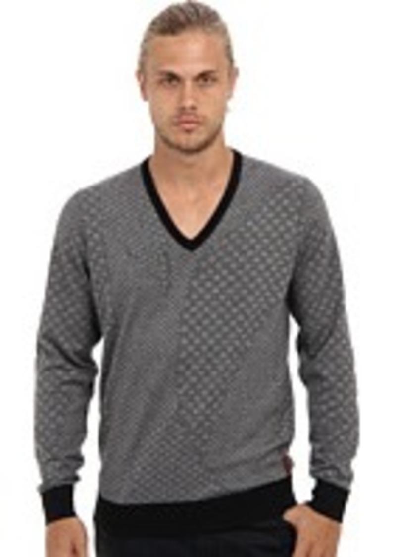 ben sherman ben sherman geometric jacquard v neck sweater sweaters shop it to me. Black Bedroom Furniture Sets. Home Design Ideas