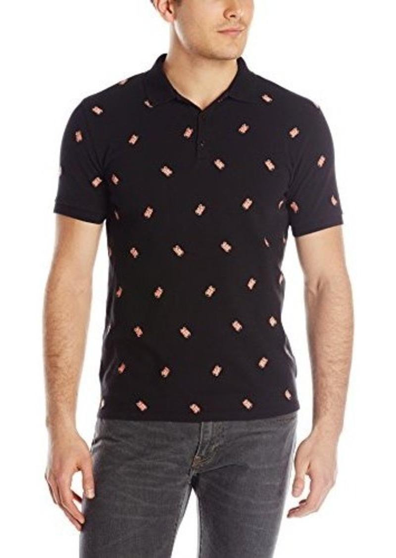ben sherman ben sherman men 39 s embroidered bug polo casual shirts shop it to me. Black Bedroom Furniture Sets. Home Design Ideas