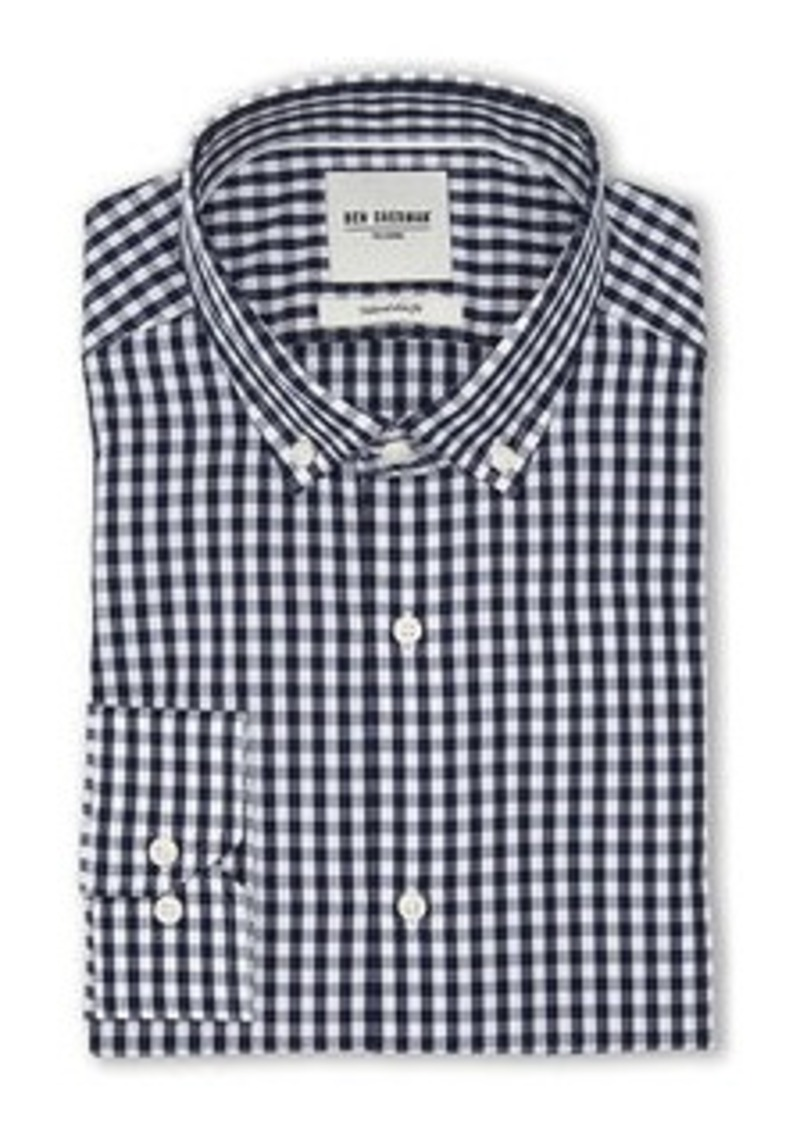 Ben Sherman Ben Sherman Navy White Gingham Slim Fit