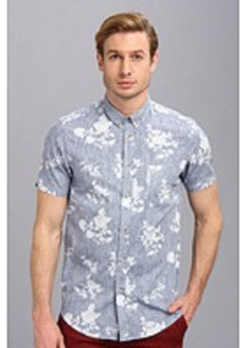 ben sherman ben sherman reverse floral short sleeve woven casual shirts shop it to me. Black Bedroom Furniture Sets. Home Design Ideas