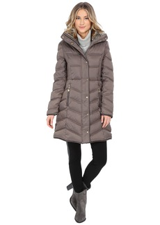 Betsey Johnson 3/4 Puffer with Faux Fur Trim