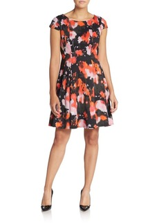 Betsey Johnson Abstract-Print Fit-And-Flare Dress