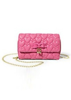 BETSEY JOHNSON Always Be Mine Heart-Quilted Shoulder Bag