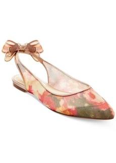Betsey Johnson Ann Slingback Bow Flats Women's Shoes