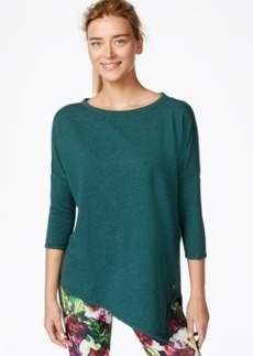 Betsey Johnson Asymmetrical Hem Three-Quarter Sleeve Top