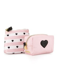 Betsey Johnson Away We Go Two-Piece Cosmetic Bag Set