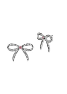 BETSEY JOHNSON Ballerina Rose Bow Stud Earrings