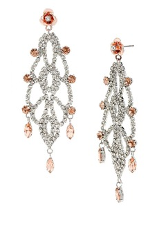 BETSEY JOHNSON Ballerina Rose Chandelier Drop Earrings