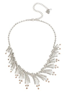 BETSEY JOHNSON Ballerina Rose Spray Necklace