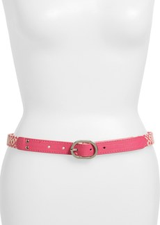 Betsey Johnson Basket Weave Belt