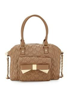 Betsey Johnson Be Mine Forever Large Satchel Bag