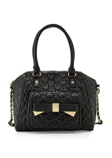 Betsey Johnson Be Mine Forever Large Satchel Bag