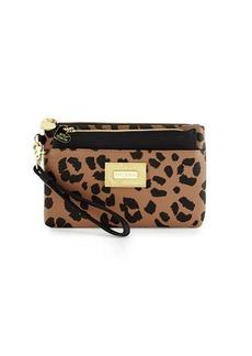 Betsey Johnson Be Mine Forever Leopard-Print Wristlet