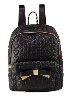 Betsey Johnson Be Mine Forever Quilted Backpack