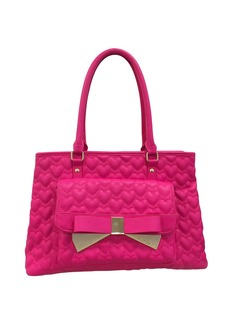BETSEY JOHNSON Be Mine Forever Quilted Satchel