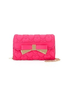 Betsey Johnson Be Mine Forever Quilted Wallet-On-Chain