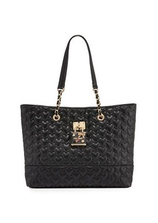 Betsey Johnson Be My Baby Quilted Tote Bag