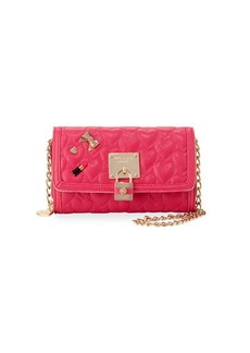 Betsey Johnson Be My Baby Quilted Wallet-On-Chain