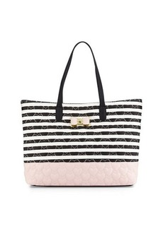 Betsey Johnson Be My Bow Colorblock Tote Bag