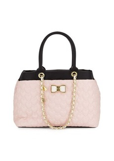 Betsey Johnson Be My Bow Shopper Tote Bag