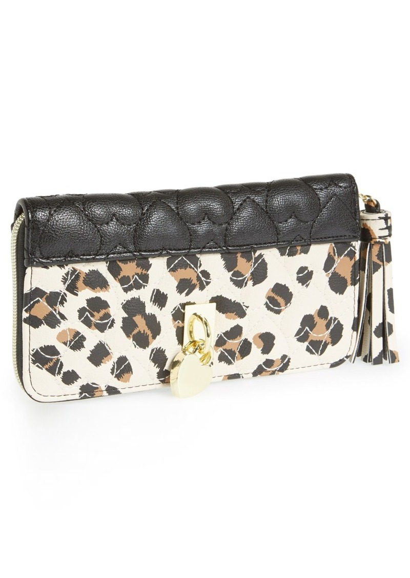Betsey Johnson 'Be My Everything' Zip Around Wallet