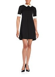 BETSEY JOHNSON Beaded Collar Fit-and-Flare Dress