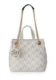 Betsey Johnson Bee Mine Heart-Quilted Shopper Bag