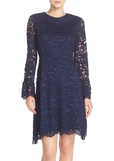 Betsey Johnson Bell Sleeve Lace A-Line Dress