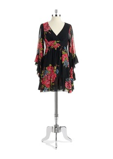 BETSEY JOHNSON Bell Sleeved Floral Dress
