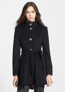 Betsey Johnson Belted Skirted Wool Blend Coat