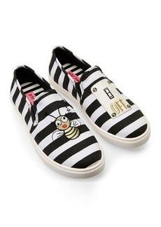 betsey johnson Black & White Emojo Slip-On Sneakers