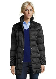 Betsey Johnson black box quilted optional belted and hooded jacket